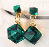 High Quality Handmade Square Shape Crystal Stud Earrings Wholesale