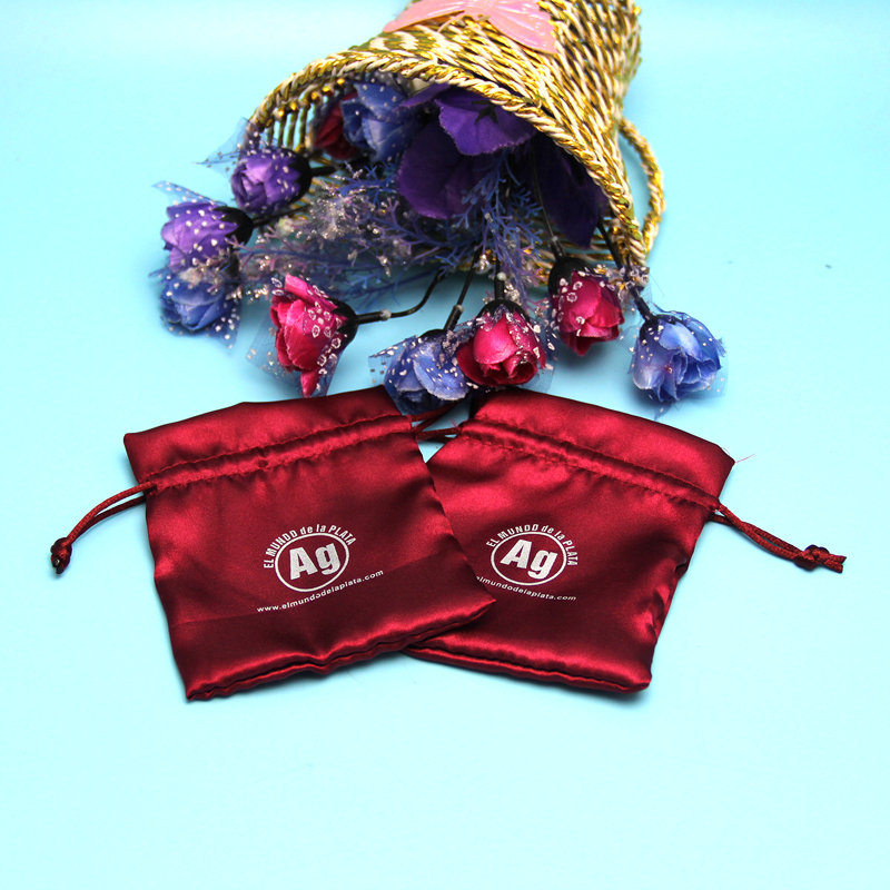 Factory price custom red small mini gift pouch With printed Logo