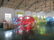 Best price 0.8mm/1.0mm PVC/TPU inflatable water walking balls with pool,inflatable water walking roller,