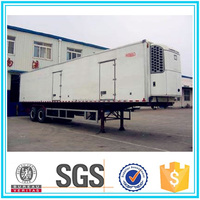 CIMC double axle refrigerator semi trailer price refrigerated cargo trailer