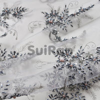 Beaded Lace Sequin Fabric Handmade Design Fashion Embroidery delicated high quality Lace Fabric for dress