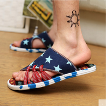 Wholesale new high-end design spell color color in the summer of 2015 men flat sandals, beach slippers size shoes for men,39-44