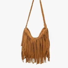 the latest high end fashion leather tassels shoulder bag