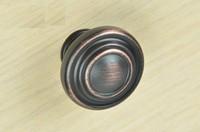 Oil Rubbed Bronze Cabinet Cupboard Drawer DIY Door Knobs Pull Handles Hardware (Diameter:33*33mm)