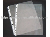 A4 size 11 holes PP clear sheet protector