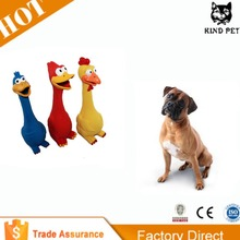 2015 Chicken shape Rubber dog squeaky toys
