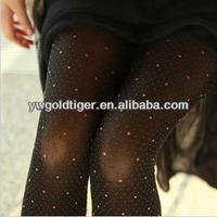Christmas Party High Quality Sheer Pantyhose Women Custom Print Infrared Heating Clothing Red Polka Dots Young Girls Tights