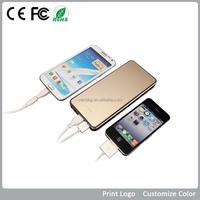 For smart mobile phone and laptop charging with led light slim power bank 2200 mAh/3000mAh/3500mAh/4000mAh 6500 mAh)