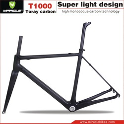 Super Light Road Bike Frame Toray T1000 Carbon Frame MIRACLE BIKE Carbon Bike Frame