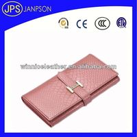 recyclable wallet womens leather checkbook wallet pink human leather wallet