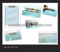 artigos de papelaria da régua clipboard clipboard com clip de metal transparente prancheta de plástico