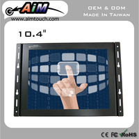 10.4 inch 4:3 wall mount bracket Resistive touch screen 1280x1024 for Restaurant
