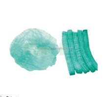 """17"""" 19"""" 21"""" 24"""" disposable nonwoven blue pleated mob cap cheap for foods or industry"""