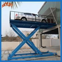scissor type car lifting platform