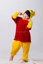 2015 hot selling cute animal kid sleepsuit unisex winnie bear pajama