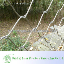 Decorative security stainless steel wire fence panel