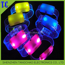 2015 Christmas gift led flashing glow happy bracelet for party decoration