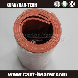 120V 8mm thickness silicone ruhher heating element with insulation