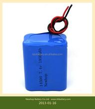 18650 10200Mah 2S3P Li-ion Rechargable 7.4V Battery Pack for medical instrument and rehabilitation equipment applications