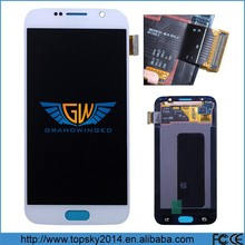 OEM For Samsung Galaxy S6 unlocked original LCD + Digitizer White Color FULL