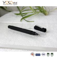 comfortable soft touch ball pen with protecter