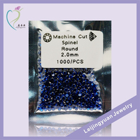 Fashion Round Synthetic 2mm Rough Blue Sapphire