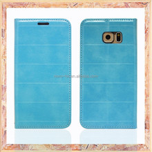 Magnet stand mobile phone leather case for samsung galaxy s6