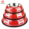 mluti colors stainless steel dogs food bowl