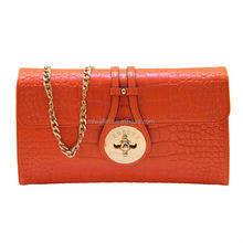 ladies' designer inspired clutch bags genuine leather clutch hand bags