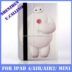 Baymax Leather Cover For iPad mini, For iPad Mini Cartoon Baymax Leather Cover
