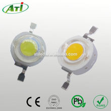 1w high power led white, 120~140LM, 3 years guarantee time, RoHs approved