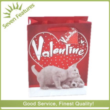 Valentines day paper gift bag ,decorative paper shopping bag