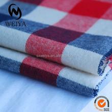 Yarn dyed twill flannel fabric