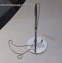 Silver metal pen base
