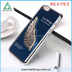 Hard 3D Plastic Case For iPhone6 Metal Aluminum Brushed Cover Protective Case