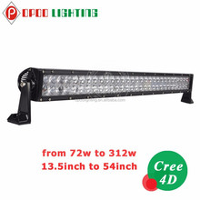 Guangzhou wholesale opoo lighting c ree 288w 50 inch off road led light bar with 4d reflectors