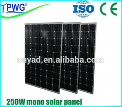 Lowest price good quality 250W mono solar panel