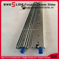 BWD3076L-40 powder coated drawer slide, groove drawer slide, FGV type drawer slide