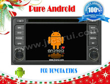 Pure Android 4.4 CAR DVD gps FOR TOYOTA Etios ,head device,Multimedia ,3G,wifi,support back up camera