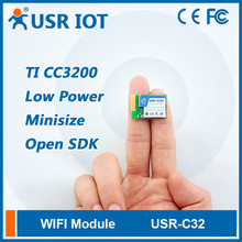 (USR-C322) SMT Serial UART to Wifi 802.11 b/g/n Module with TI CC3200 Chip Support Wi-Fi 802.11 b/g/n Wireless Standards