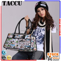 TH1203 Large capacity and comfortable PU leather handle zipper for handbags