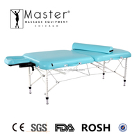 "Master Massage 30"" Calypso LX Ultra-Light aluminum light weight Portable Massage Table with New NanoSkin Upholstery"