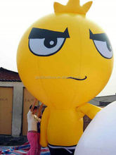 Durable PVC Inflatable Advertising Products , Lovely Party Cartoon yellow Animal