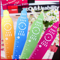 2016 fashion new stationery products London tower colorful metal plastic letter stencil ruler