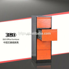 Made In China IGO-003-4D High Quality Commercial Furniture 4 drawer office furniture metal filing cabinet