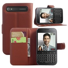 Flip PU Leather Wallet Case For BlackBerry Classic Q20