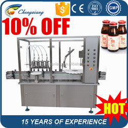 10% off automatic high speed filling machine,glass bottle filling