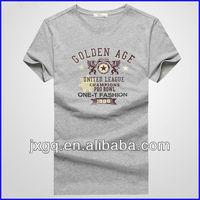 Factory direct clothing promotional gray screen printing t shirt bulk t shirt printing men