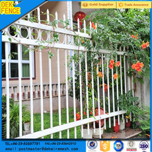 Wrought iron garden W section palisade fence manufacture factory