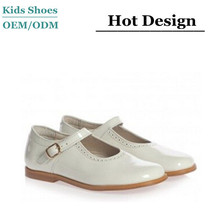 Children's Classics Girls Ivory Patent Leather Shoes